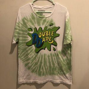 Nickelodeon Double Dare Tie dye t shirt green